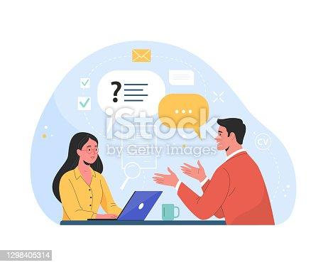 istock Job interview. 1298405314