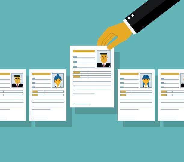 job interview - business cv templates stock illustrations