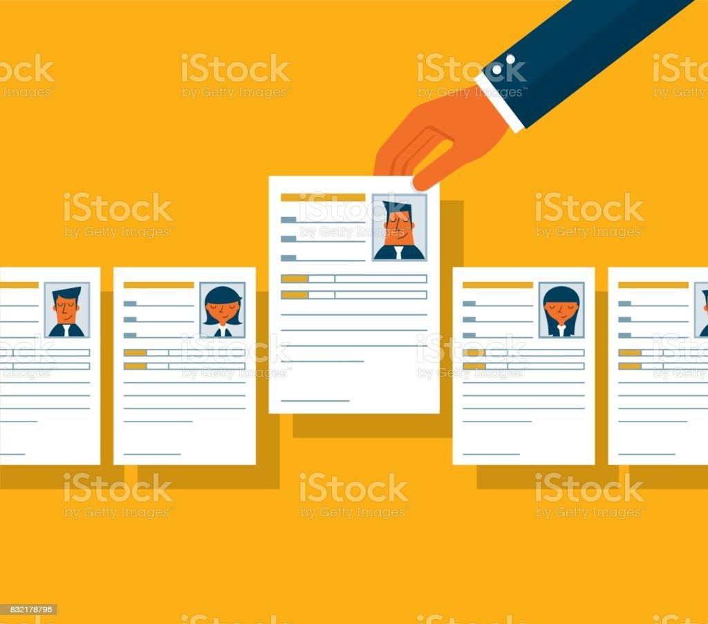 Job Bewerbungsgespräch – Vektorgrafik