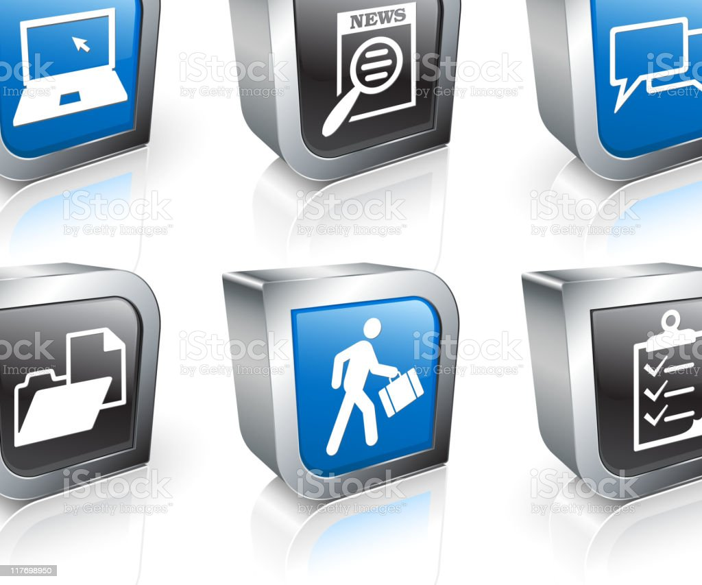 job networking 3D royalty free vector icon set royalty-free stock vector art