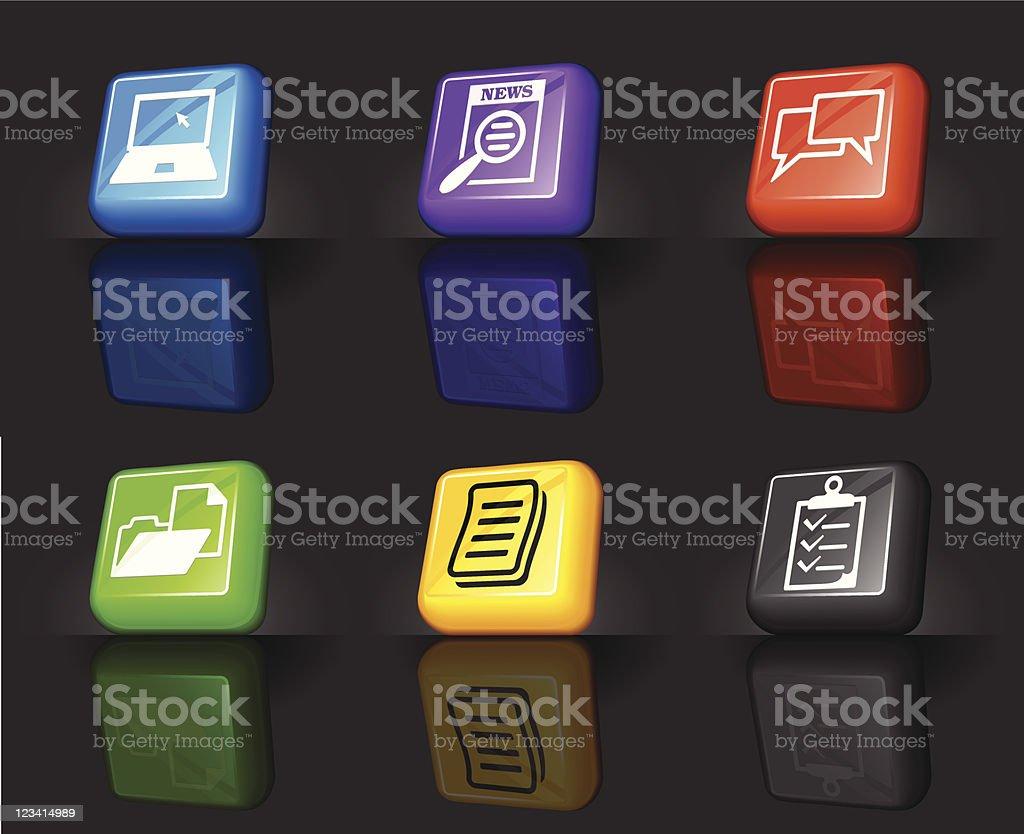 job networking internet royalty free vector icon set royalty-free stock vector art