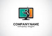 Job Online Symbol Template Design Vector, Emblem, Design Concept, Creative Symbol, Icon