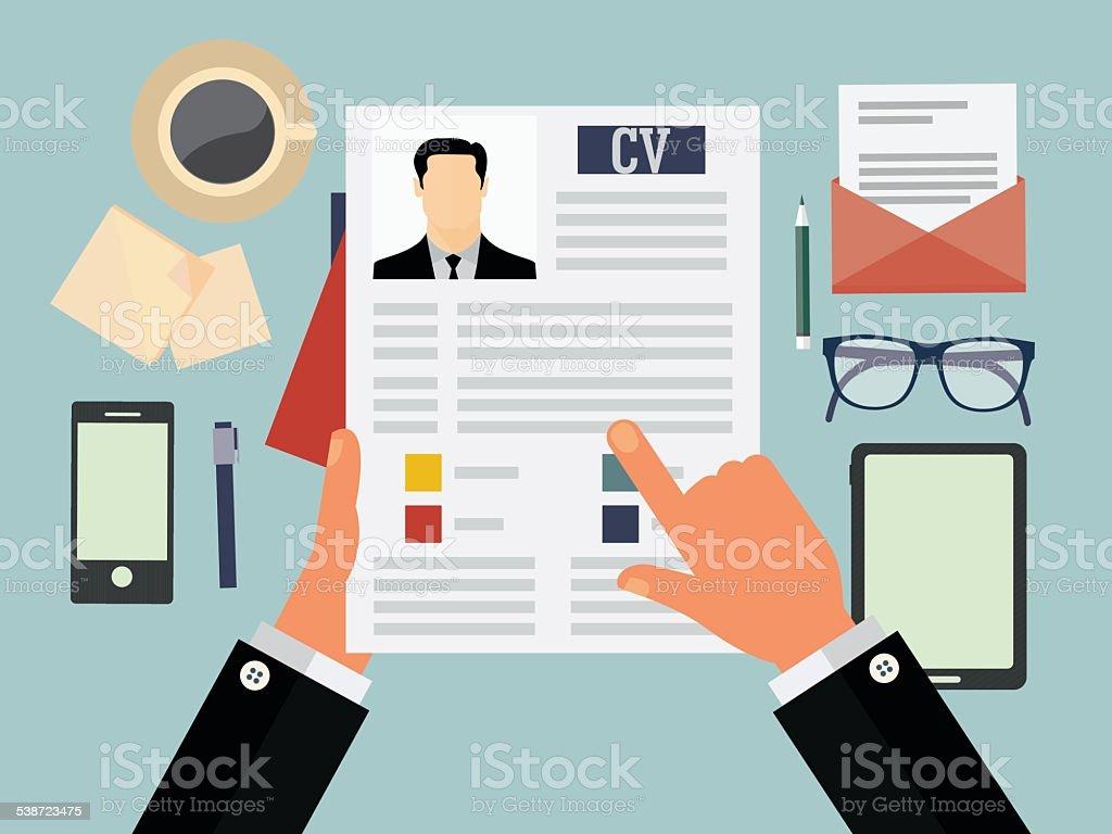 Job recruitment concept vector art illustration