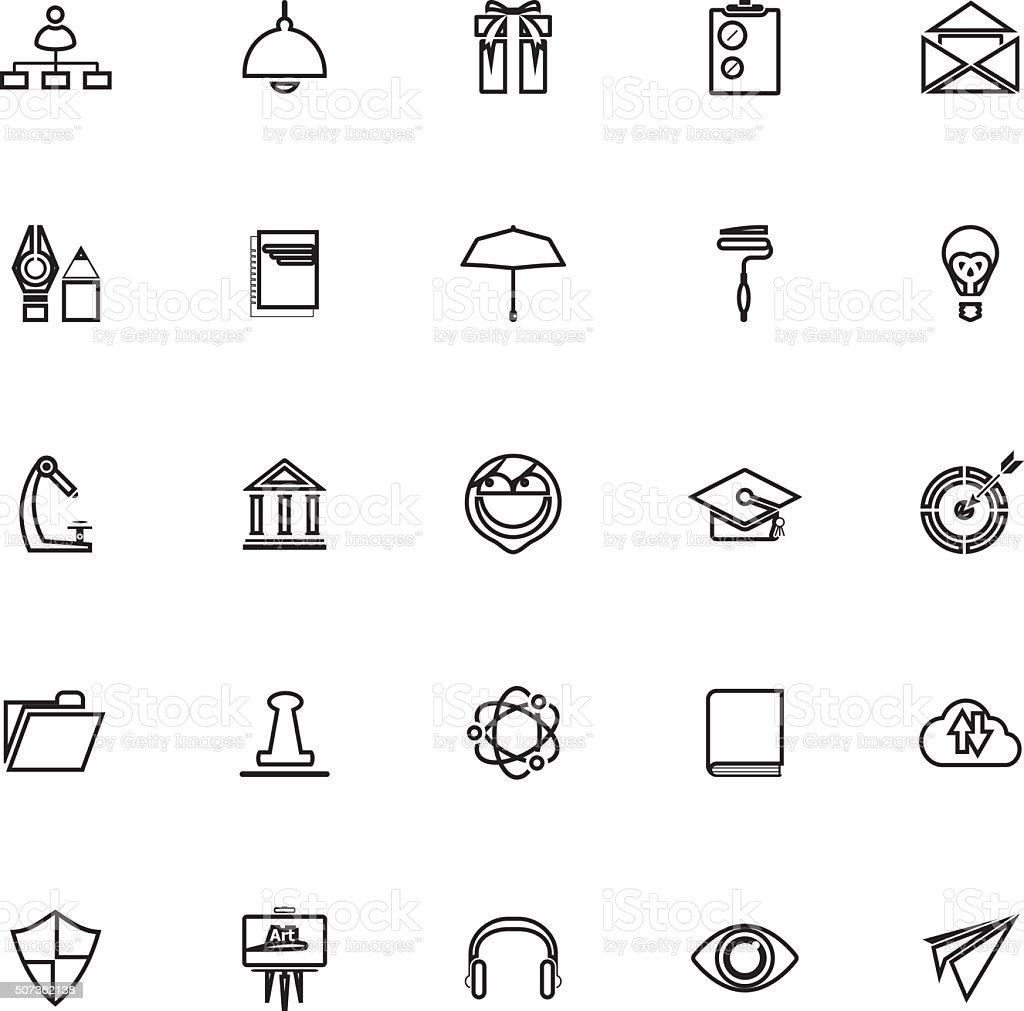 Tarea Reanudar De Iconos Sobre Fondo Blanco Illustracion Libre de ...