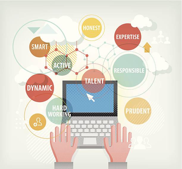 Job-Suche nach internet – Vektorgrafik