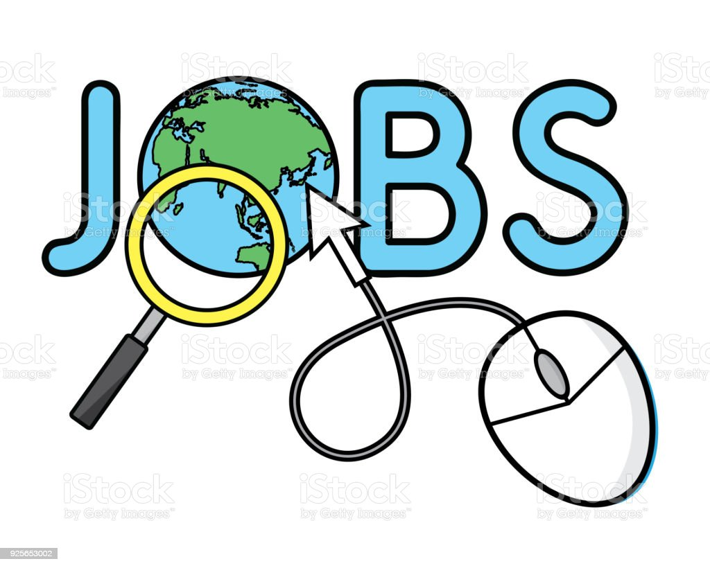 Job Search Cartoon Illustration Design Cartoon Style