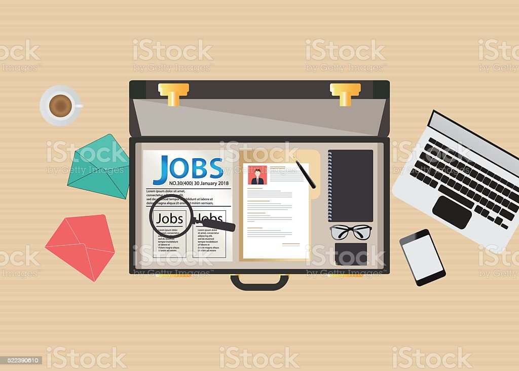 Job search icon design. vector art illustration
