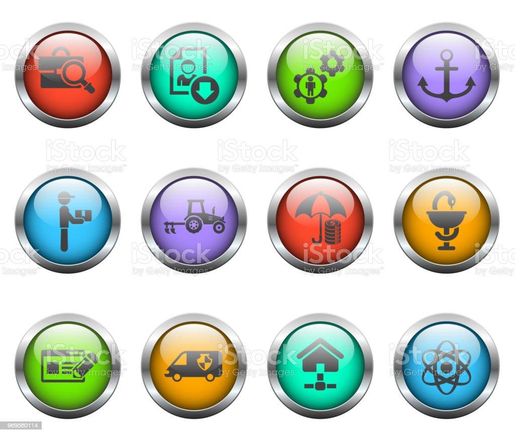 Búsqueda de trabajo conjunto de iconos - ilustración de arte vectorial