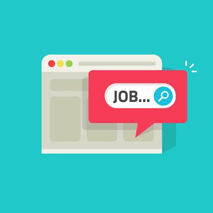 job search stock illustrations