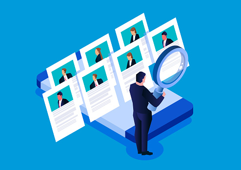 Job search resume, recruitment, human resources, online resume for job search agencies