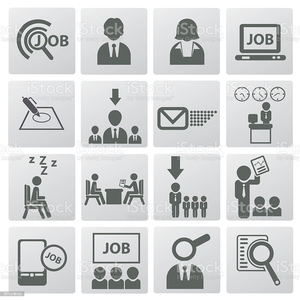 Jobs and Employment icon set,vector vector art illustration