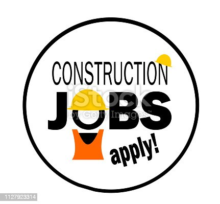 apply for construction jobs sign