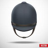 Jockey helmet for horseriding athlete