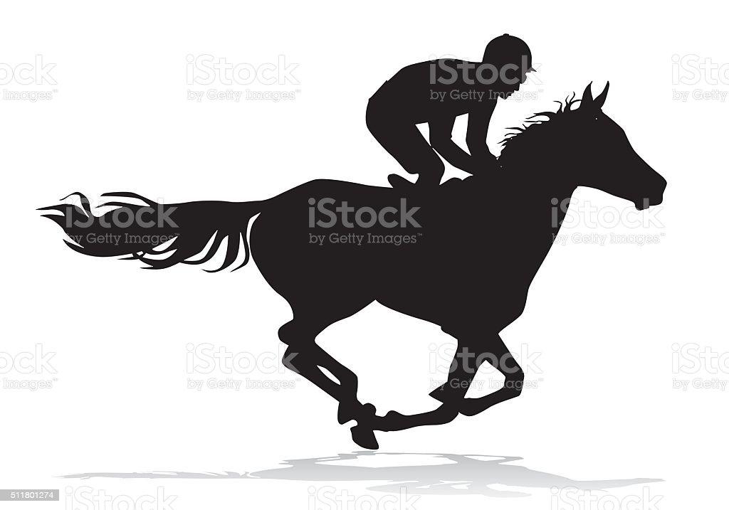 royalty free racehorse clip art vector images illustrations istock rh istockphoto com racehorse with jockey clipart Cartoon Racehorse