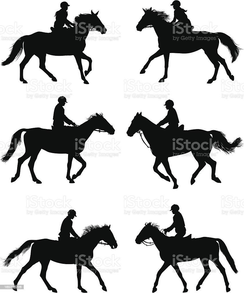 jockey royalty-free stock vector art