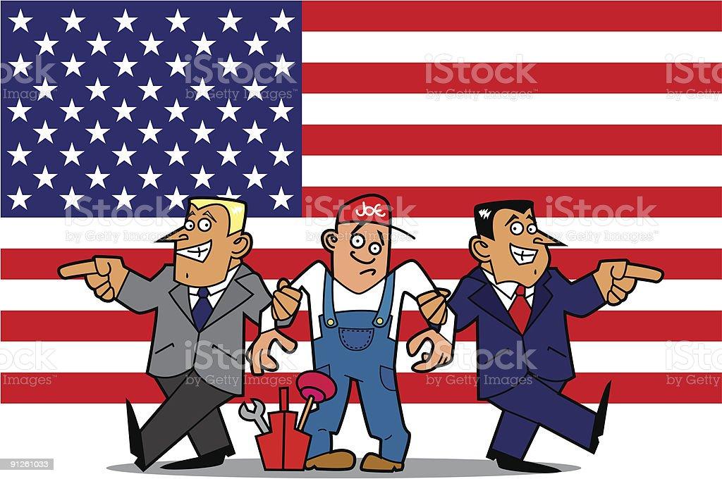 Joe the plumber royalty-free stock vector art