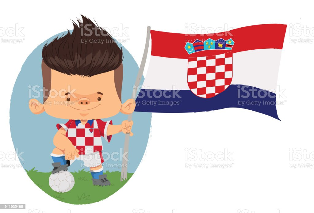 Jogador de futebol (Croácia) - ilustración de arte vectorial