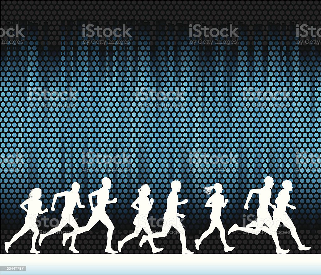 Jogging Club or Cross Country Background royalty-free stock vector art