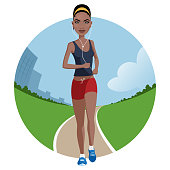 istock Jogging girl 1276943546