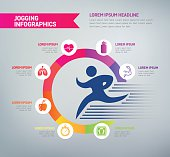Jogging Infographics - Healthy Lifestyle