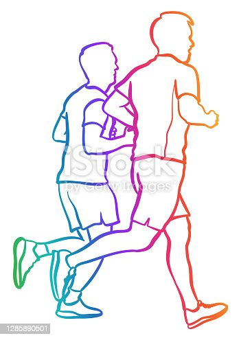 istock Jogging Together Daily Rainbow 1285890501