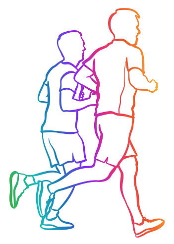 Jogging Together Daily Rainbow