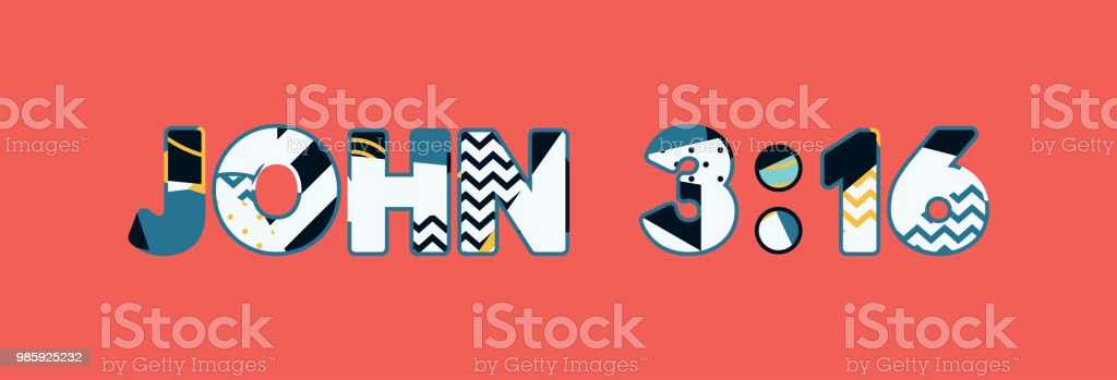 John 3:16 Concept Word Art Illustration