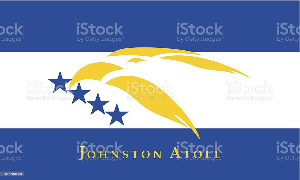 Johnston Atoll Flag royalty-free stock vector art