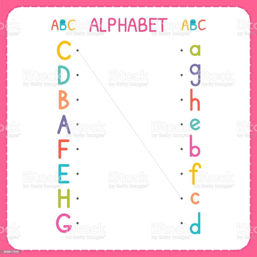 Begleiten Sie Jeden Großbuchstaben Mit Den Kleinbuchstaben Von A Bis ...