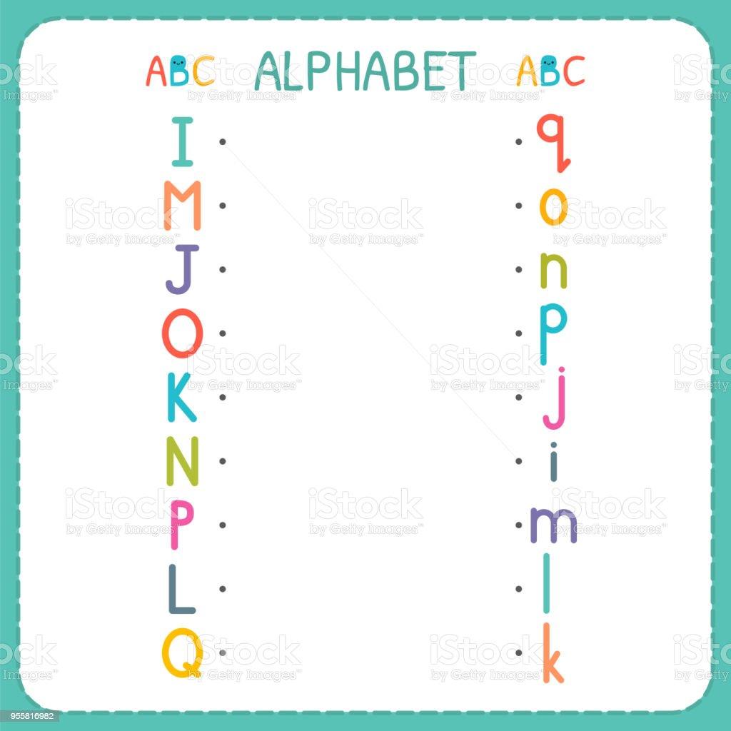 Begleiten Sie Jeden Großbuchstaben Mit Den Kleinbuchstaben Von I Bis ...