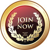 Join now and become one of our members gold award shield.