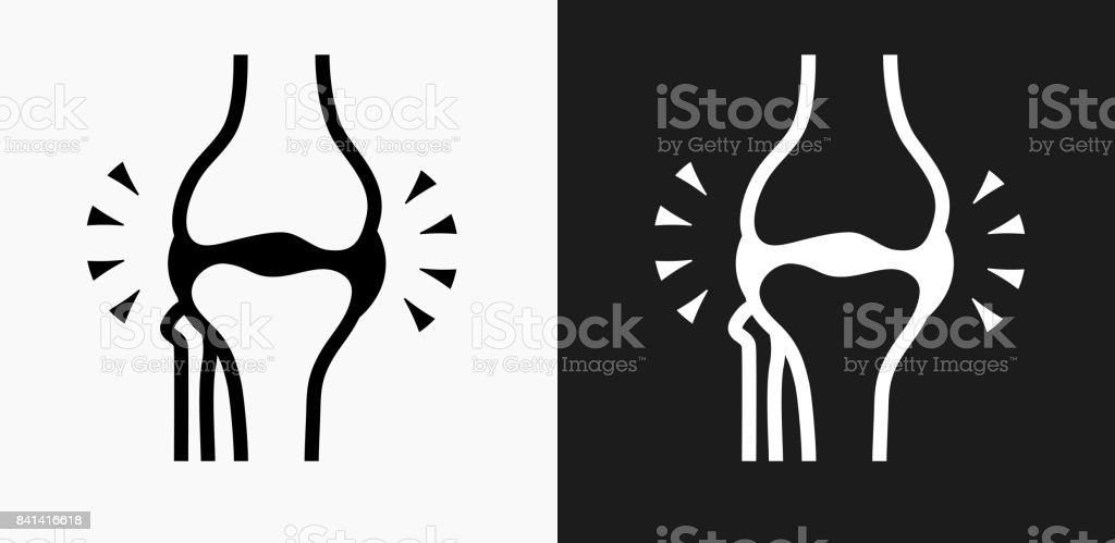 Joint Icon on Black and White Vector Backgrounds vector art illustration