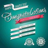 Joint Writing Ribbon Typo Congratulations 02