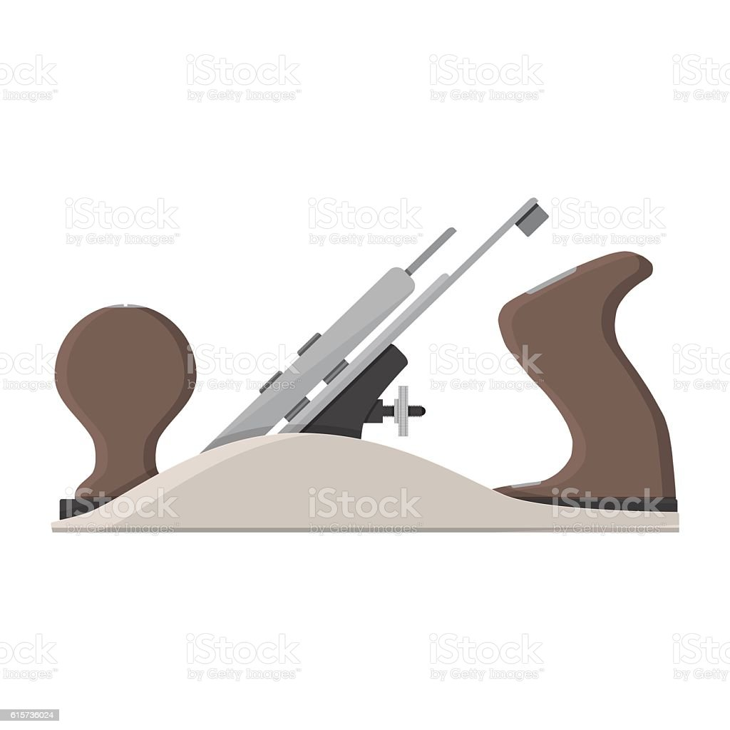 jointer plane. hand tool for carpentry vector art illustration