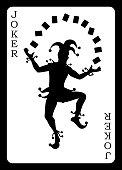 Joker card. Vector background.