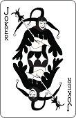Joker Playing Card Black