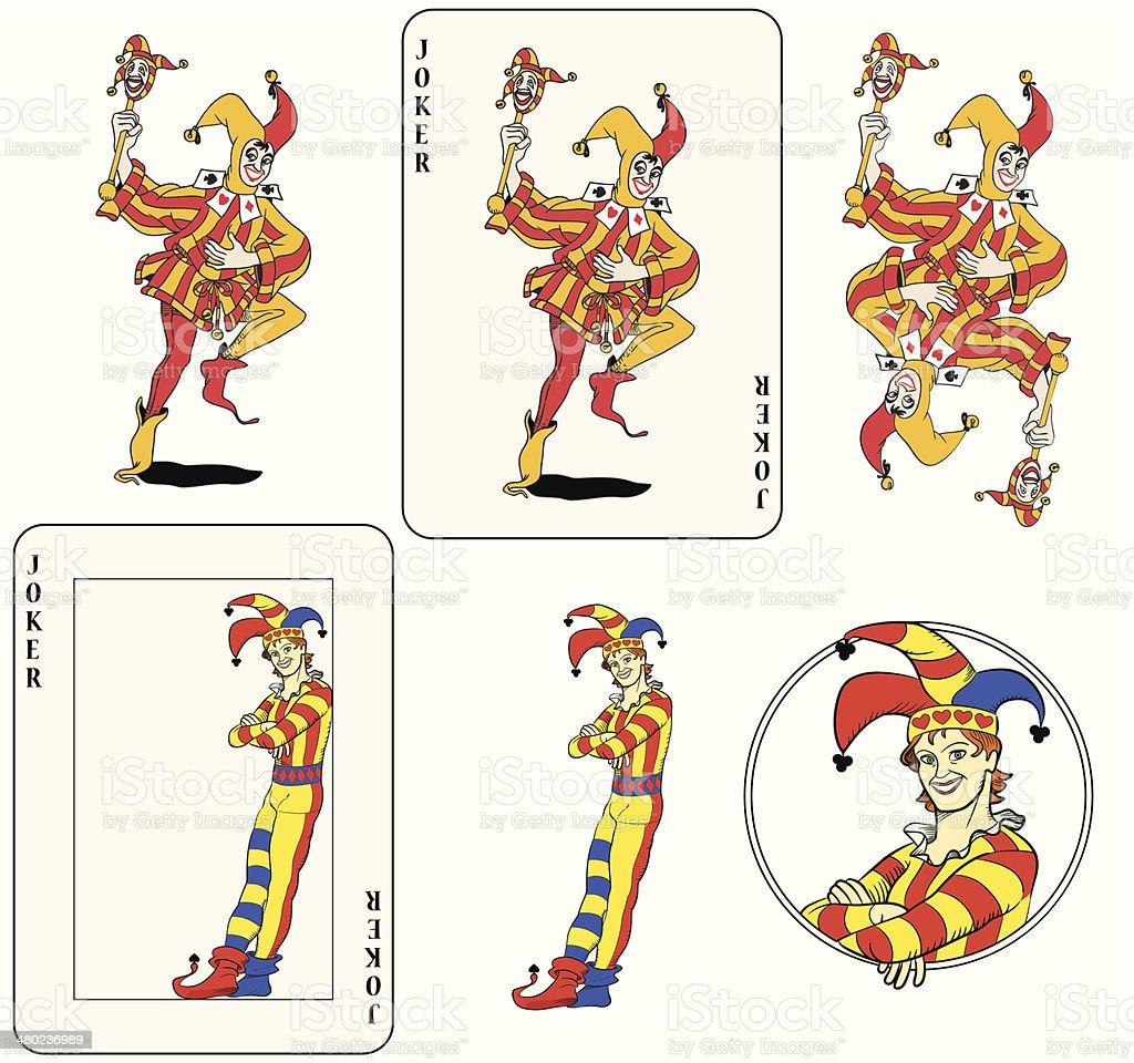 Jocker jouer la carte - Illustration vectorielle