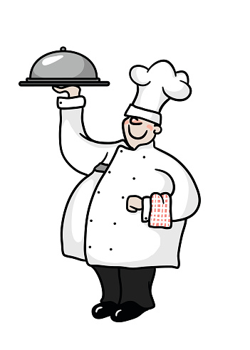 Jolly Chef presenting a meal