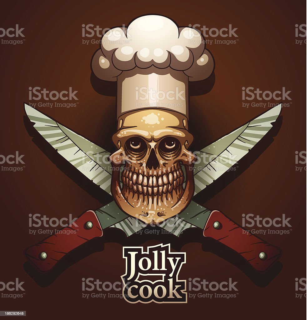 Jolly cook color emblem, knifes royalty-free stock vector art