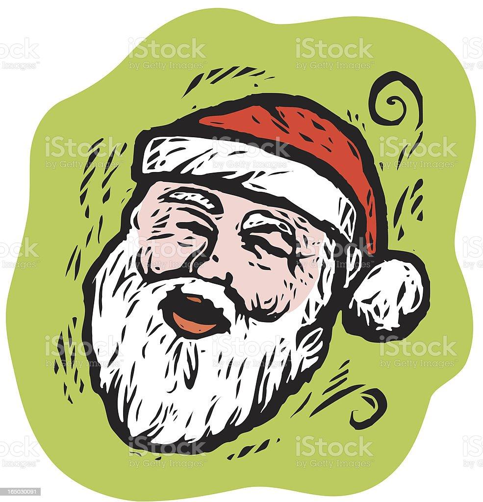 Jolly Santa Claus vector art illustration