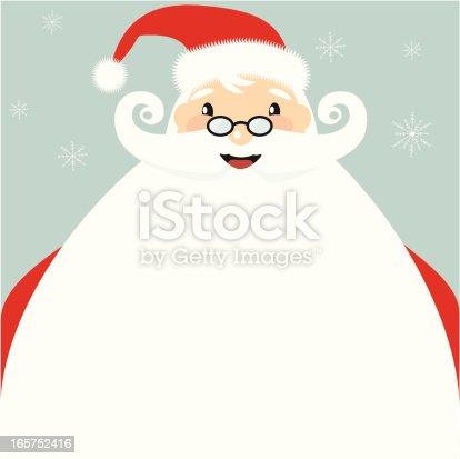 istock Jolly Santa clause cartoon with giant beard 165752416