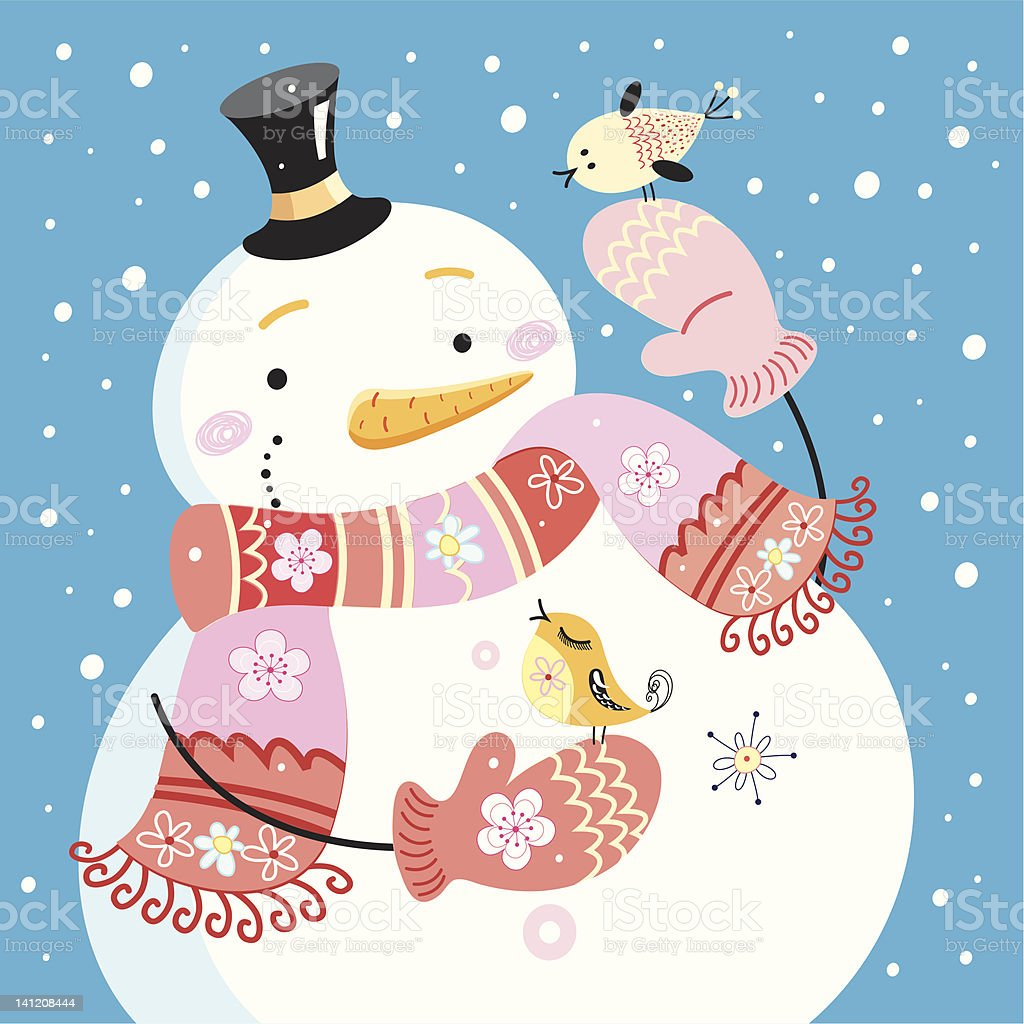jolly snowman royalty-free jolly snowman stock vector art & more images of beauty