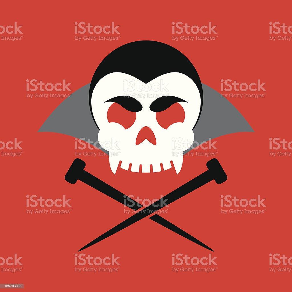 Jolly Vampire royalty-free stock vector art