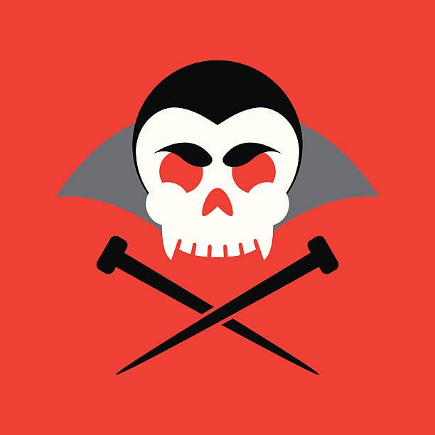 Jolly Vampire vector art illustration