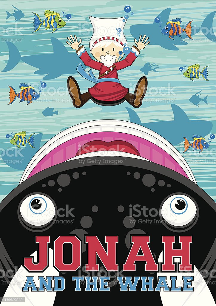 Jonah and the Whale Illustration royalty-free jonah and the whale illustration stock vector art & more images of adult