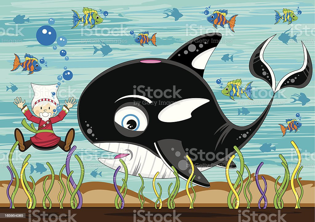 Jonah And The Whale Scene Stock Illustration - Download ...