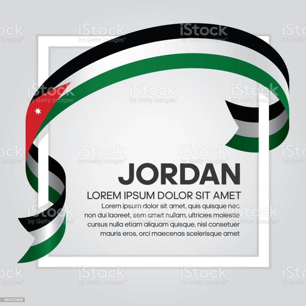 Jordan Flag Background Stock Vector Art & More Images Of