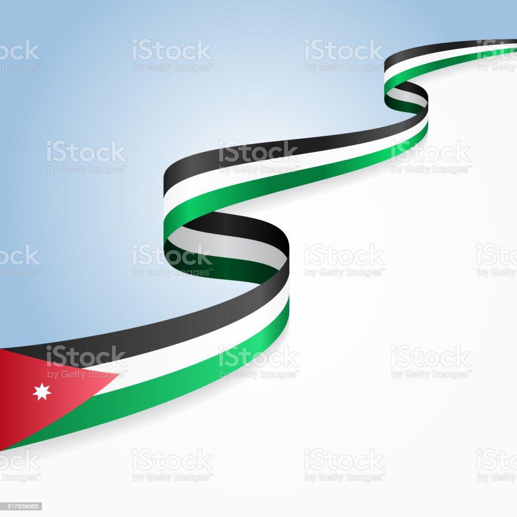 Jordan Flag Background Vector Illustration Stock Vector Art More