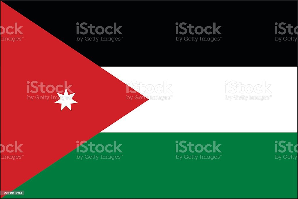 Jordan flag vector art illustration