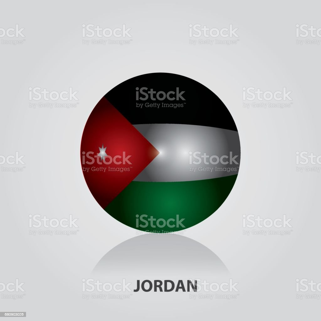 Jordan - Flags of Asia Vector Illustration royalty-free jordan flags of asia vector illustration stock vector art & more images of 2017